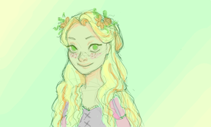 Day 28- Flowers in Her Hair by Mags-Pi