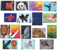 ACEO ART Cards by Graphix-Goddess