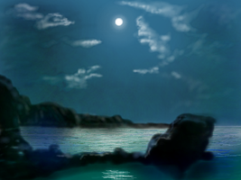 Moonlight on the Bay (1) by MacAodhagain