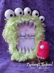 Five Eyed Monster Photo Frame and mini monster by MyrcurysToybox