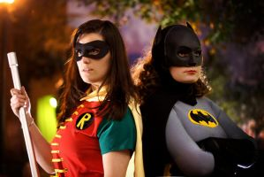 The Boy Wonder and The Caped Crusader by CosplayInABox