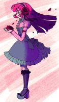 Colored: Gothic Lolita Line Art by sererena by trxmpstxr