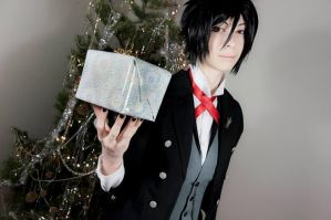 Merry Christmas from the Phantomhive's butler by LadyNico7