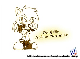 Commission - Dark the Albino Purcupine by Wharomaru-Zhamal