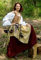 Burgundy and Gold Wench 4 by MistressKristin