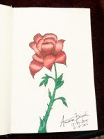 Mini Sketchbook Series- Colored Rose by MyLittleArtistic