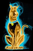 scooby doo neon by AlanSchell