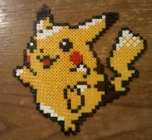 Pikachu made from Pyssla beads by yolei-s