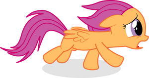 Scootaloo Running Vector by PinkiePizzles