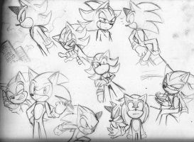 Sonic and Shadow by RednBlackDevil