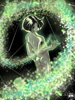 A Green Glow in the Dungeon by shigure-kisune