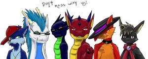 Don't mess with us! by Drachorn