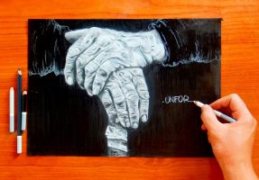 -old hands drawing! by Unfor-street-arT