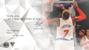 Carmelo Anthony Minimalist Wallpaper by EsegaGraphic