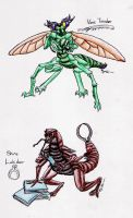 Anthro Insects (They Have NAMES Now!) by SpiderMilkshake