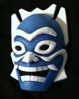 Blue Spirit mask detail by DuskglassCosplay