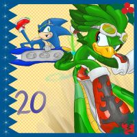 Sonic Advent Calendar: 20th by Feniiku
