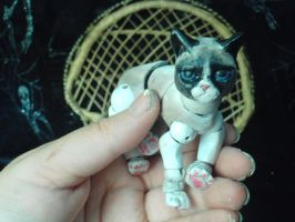 mini Grumpy cat Bjd by Dollysmith