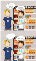 Tony and Steve at the supermarket by ice-cream-skies