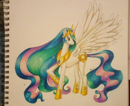 Princess Celestia by CHRISLOVER4LYFE