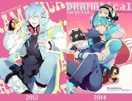 Aoba Fanart Comparison by Joberu