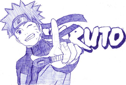 Naruto: The Ultimate Homework Doodle by AeliaDarkness