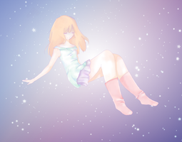 Floating in space by pamguinn