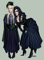 Narcissa and Bellatrix by FionaCreates