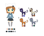 [Ref] Nicole and her cats by HannaTheAmazing