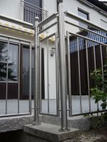 Stainless steel balustrade and French balcony by Metal-Sculpture