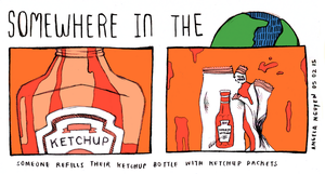 Somewhere in the World: Ketchup by pikarar