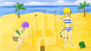 Sand Castle Making (Kerokie Contest Entry) by Hiyomi-chan