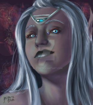 Speed Paint- Icy Stare by aceoni