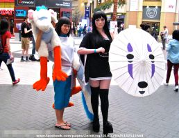 Haku and Human No Face by ZeroKing2015