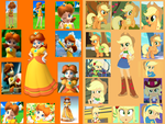 Daisy and Applejack Wallpaper by DANIOTHEMAN