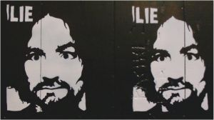 Charles Manson Acrylic on Wood by TheLoveTerrorCult