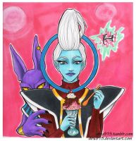 Lord Beerus and Whis by diru915