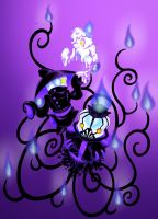 POKEMON gijinka: Litwick, Lampent and Chandelure by Mel-the-shadow-lover