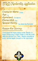 League Application: Zonia by Midnight-Yamikidate