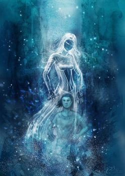 The blue Lady - Magic (favor) by Agalanthe
