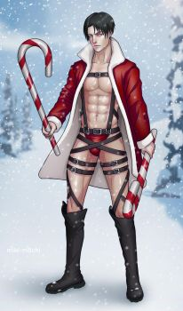 LEVI ATTACK ON CHRISTMAS by miki-mochi