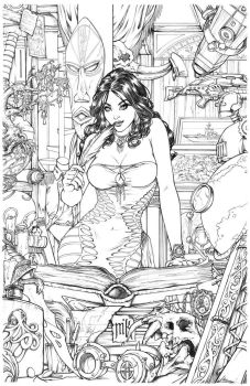 Shahrazad Issue#0 Cover Pencils by Kromespawn