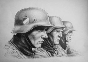 Three soldiers by chuckie96