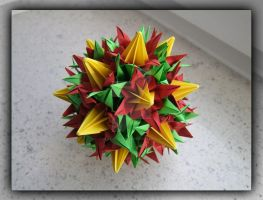 Kusudama 21 by lonely--soldier