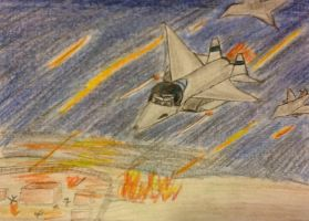 The night they were freed-living aircraft by Northwestern-Viola13
