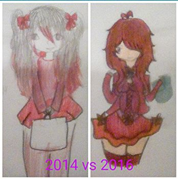 2014 vs 2016:little red riding hood by Rinoharra
