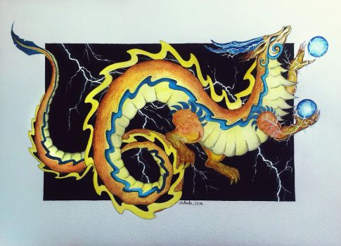 Thunder dragon by red-fox-child