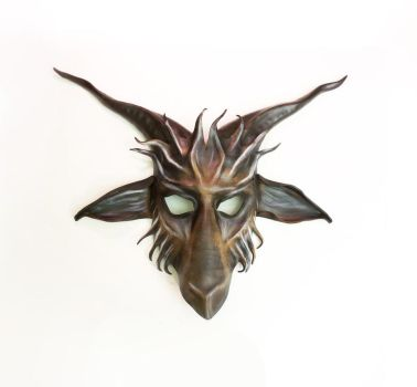 Leather Baphomet Goat  Mask by Teonova by teonova