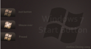 Windows Dark Button win7only by 2befine