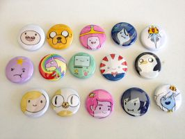 Adventure Time button set by Rosewine